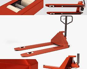 Manual pneumatic loader 3D model low-poly