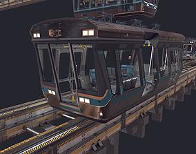 Monorail 3D asset