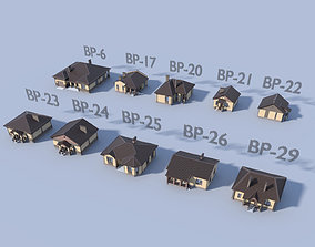 Collection of 10 models of residential one-story PBR