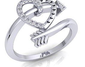 3D printable model Heart Lock Diamond Ring