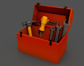 box with tools 3D