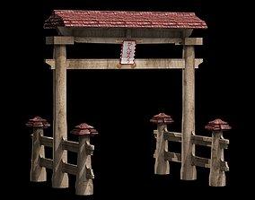 Torii Japanese Gate 3D model PBR