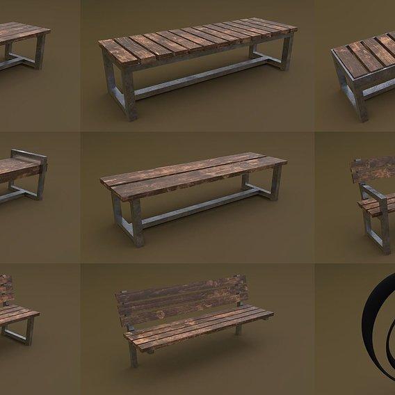 Bench Set 8M1T 01 RR