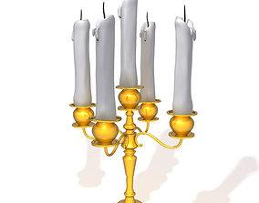 Candle light holder 02 3D
