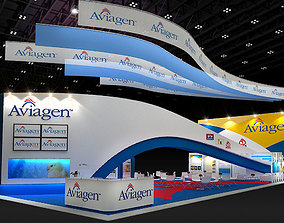 3D model VR / AR ready Booth Aviagen Design