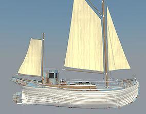 sail Odessa fishing boat 3D model