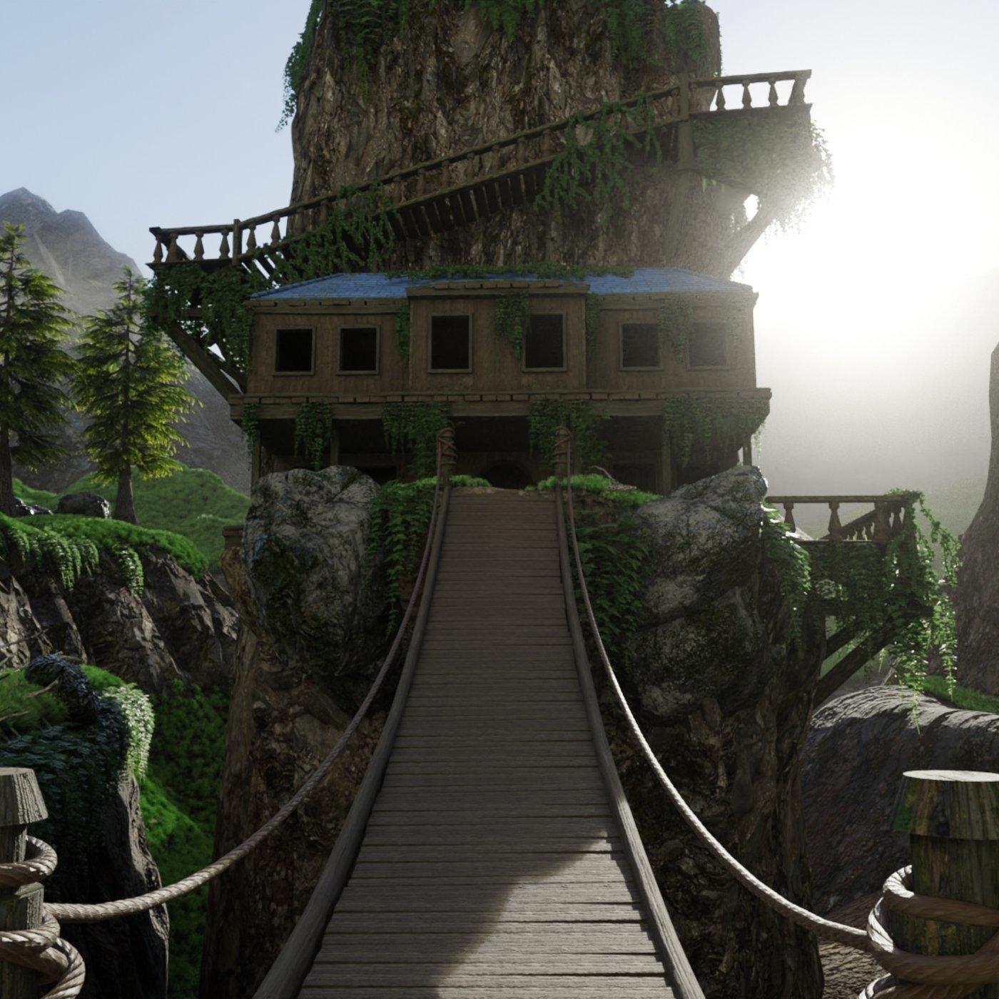 House on Mountain Scene   Scene 18 v2