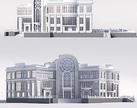 Classical public building 3D