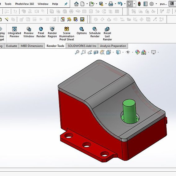 PCB Case for Ultrasonic Sensor and Push Button