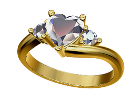 3D printable model Heart 3 gem ring