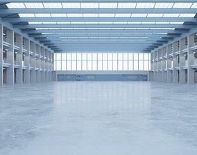 3D asset VR / AR ready Industrial Hall Interior 1