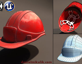 3D model Low Poly Safety Helmet Unity and Unreal