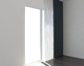 3D model window Curtain 01