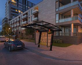 Bus Stop Bus station 3D model