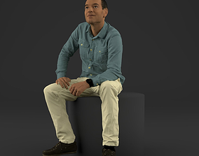 3d Tim sitting - 3D printable