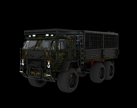 animated Military Vehicule KamAZ-53501 Low-poly 3D