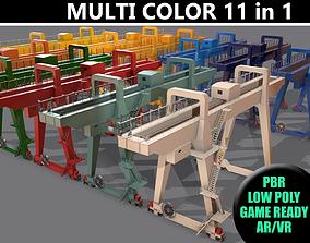 3D model PBR Double Girder Gantry Crane V1 - Multi color 1