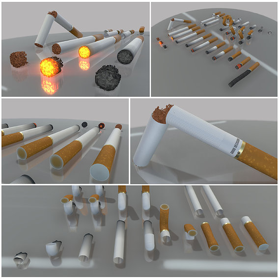 Modular Cigarettes Set (High-Poly)