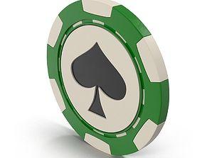 Spades Casino Chip 3D model
