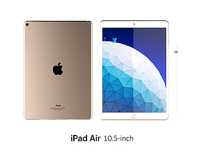 iPad Air 10 5-inch Gold 3D
