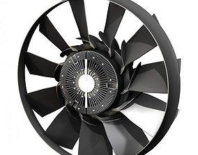 3D model Engine cooling fan 2