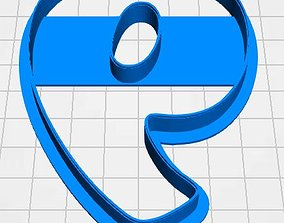 Number 9 cookie cutter for professional 3D print model