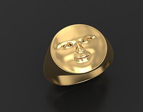 Sun face ring 3D printable model