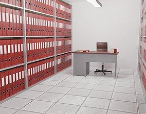 3D model Archive - Folder Room Interior