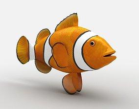 3D asset Clownfish Amphiprioninae Nemo