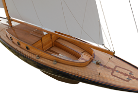 3D model 60ft Classical Sailing Yacht Elise