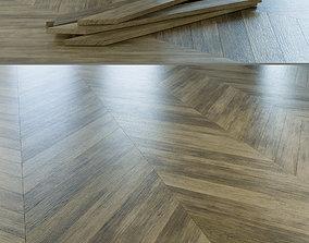Chevron Rustic Oak Wood Floor 004 3D
