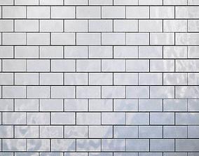 3D model Tiles set Geometry Pattern White