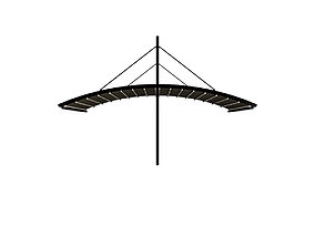 Motorized Pergola 6a dark iron outside 3D