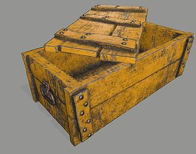 old chest 3D asset VR / AR ready