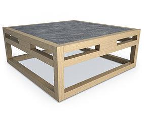 3D model Kontiki Wooden Outdoor Table