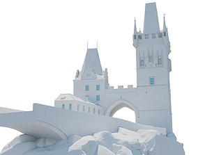 3D printable model Two towers in Prague