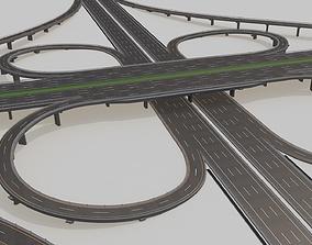 3D Highway Intersection Road Bridge