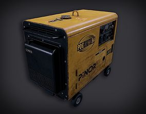 3D model Lowpoly PBR Diesel Generator
