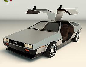 3D asset Low Poly Sports Car 04