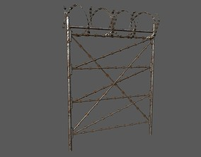 Military Barbwire Fences 3D asset